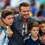 David Beckham Car Crash 2014 with Son Brooklyn Pictures