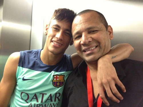 Photo of Neymar & his  Father  Neymar da Silva Sr