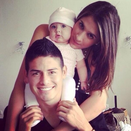 James Rodríguez Wife and Baby