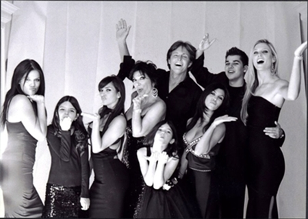 Kardashian Family Christmas Card 2007