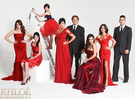 Kardashian Family Christmas Card 2008