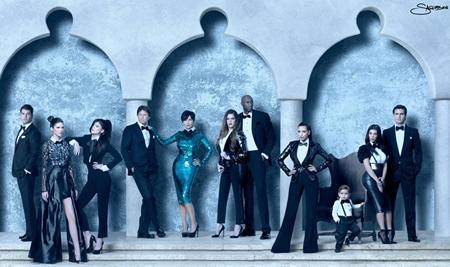 Kardashian Family Christmas Card 2011