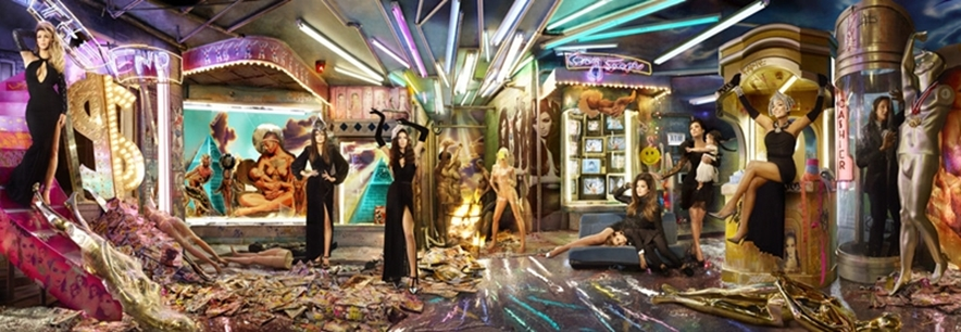 Kardashian Family Christmas Card 2013
