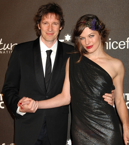 Milla Jovovich with Husband