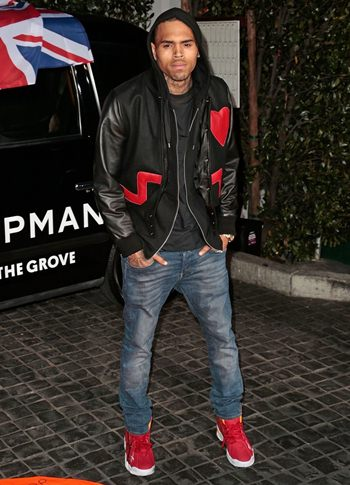 Chris Brown black jacket