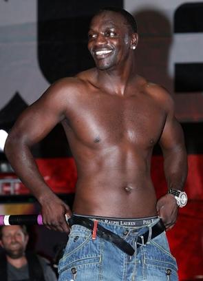 Akon Body Measurements