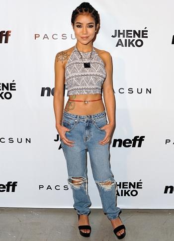 Jhene Aiko Height Weight Body Figure Shape