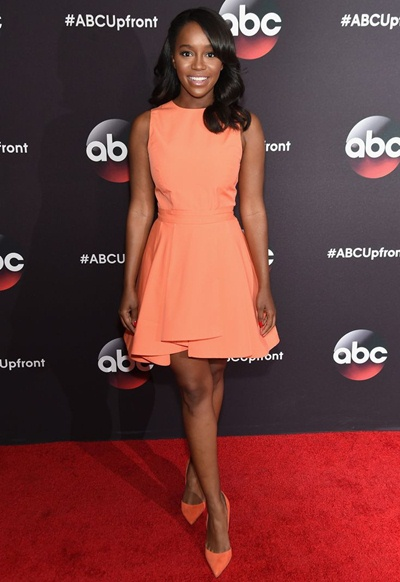 Actress Aja Naomi King Measurements Shoe Size