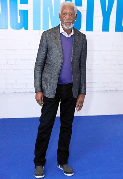 Morgan Freeman Body Measurements Stats