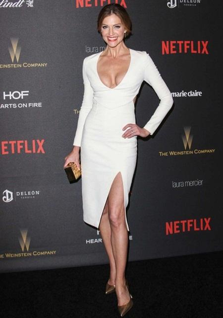 Tricia Helfer Height Weight Bra Size