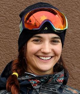 Snowboarder Brenna Huckaby