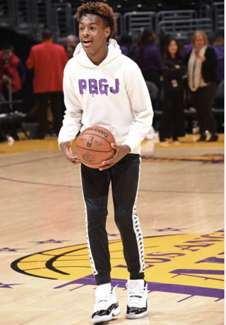 Bronny James Height Weight Shoe Size