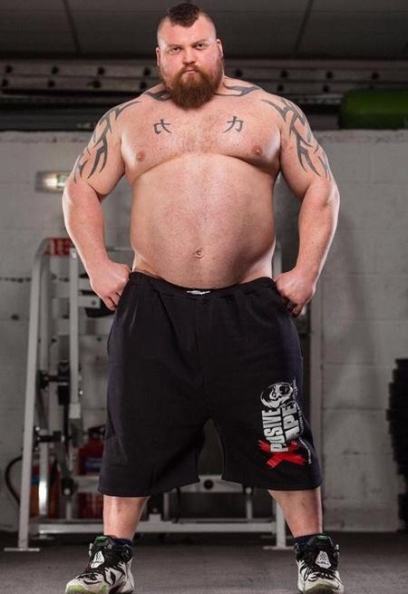 Eddie Hall Height Weight Stats